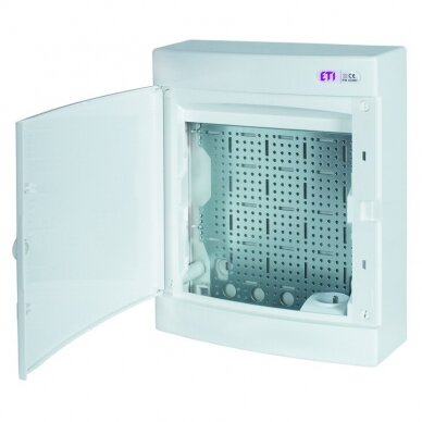 Virštinkinai plastikiniai skydeliai (IP40) su perforuota plokšte ir rozete 230 V ECT MEDIA 2