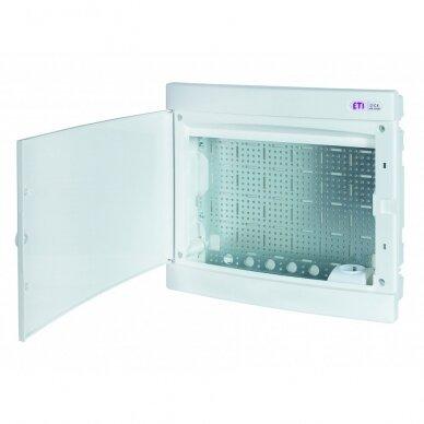Potinkiniai plastikiniai skydeliai (IP40) su perforuota plokšte ir rozete 230 V ECM MEDIA 2