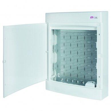 Virštinkinai plastikiniai skydeliai (IP40) su perforuota plokšte ir rozete 230 V ECT MEDIA 5
