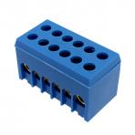 A6H-2 fazinis gnybtas 2p 6x16mm² IP20 mėlynas