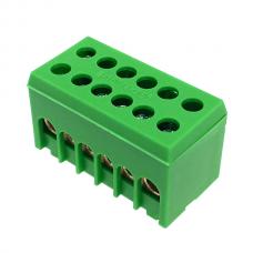 A6H-2 fazinis gnybtas 2p 6x16mm² IP20 žalias
