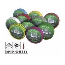 Įvairių spalvų izoliacijos rinkinys (10 vnt.) 15 mm x 10 m.