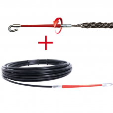 Pratraukėjas komplekte su kabelių traukimo kojine RUNPO1 20M + RUNPO Z 9-15MM